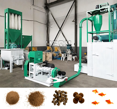 dry type floating fish feed machine