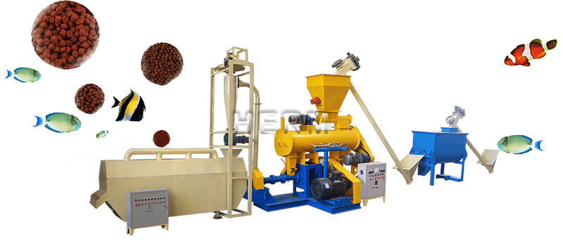 wet type flating fish feed produciton line