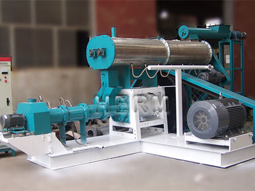 wet type floating fish feed making machine